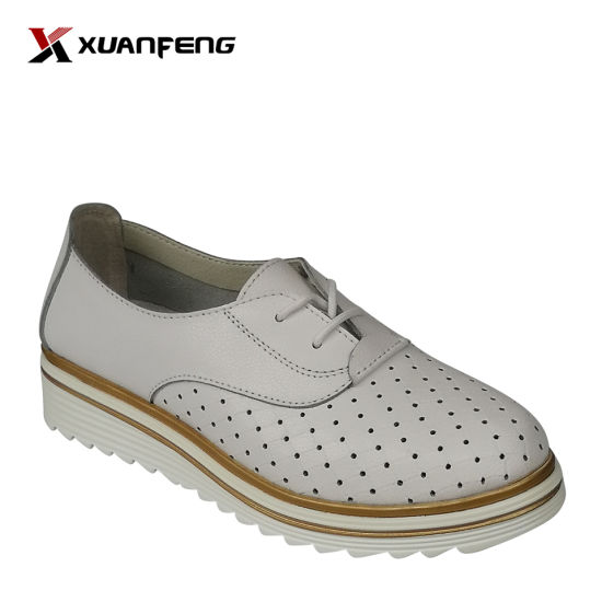 Popular Comfortable Lady's Leather Shoes