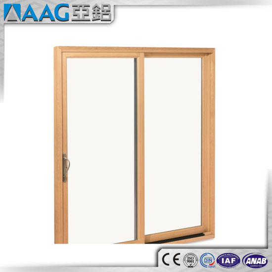 Wood Grain Sliding Glass Doors pictures & photos