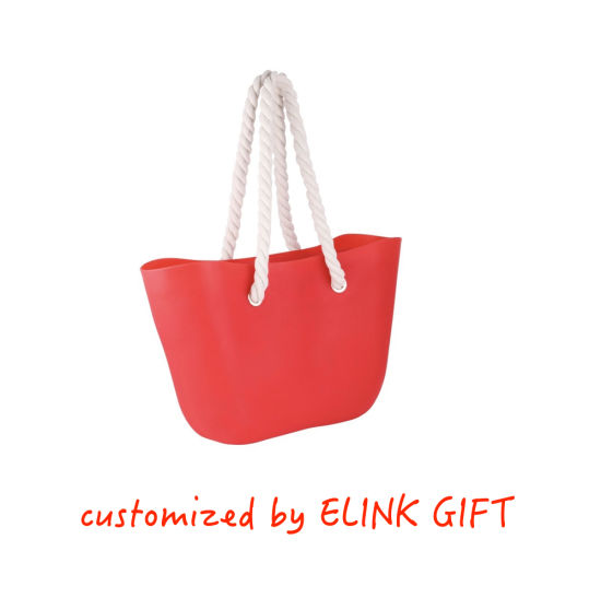 Wholesale Price Waterproof Silicone Tote Bag Shopping Bag Beach Bag with Rope Handle
