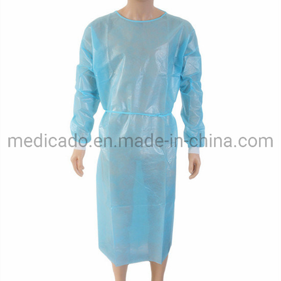 Polypropylene Nonwoven/SMS/PP+PE/Medical//Hospital Surgeon/Polyethylene/PE/CPE/PP Disposable Surgical Gown, Disposable Isolation Gown, Disposable Patient Gown pictures & photos