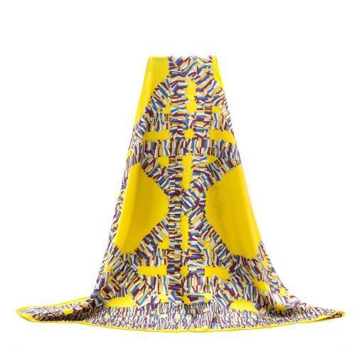 Customize Design Digital Printed Square Silk Scarf for Ladies