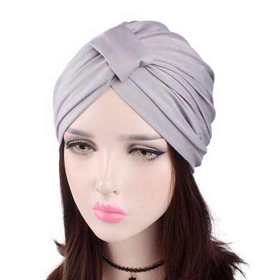 Ladies Square Elastic Cotton Scarf Bonnet Hijab Turban