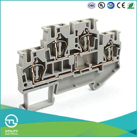 Pleasant China Dinrail Terminal Block Spring Type Jut3 4 2 Wago Screwless Wiring Digital Resources Jonipongeslowmaporg