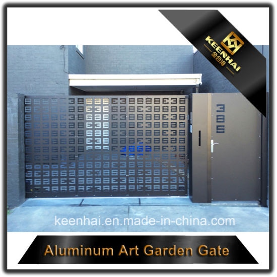 Laser Cut Aluminum Panel Main Entrance Gate Design for Villa pictures & photos
