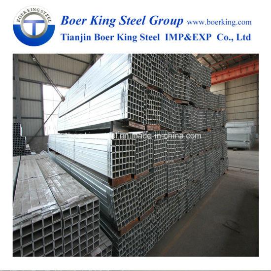 Rhs/Shs/Rss Pre-Galvanized /HDG Steel Tube Ss400 ASTM A500