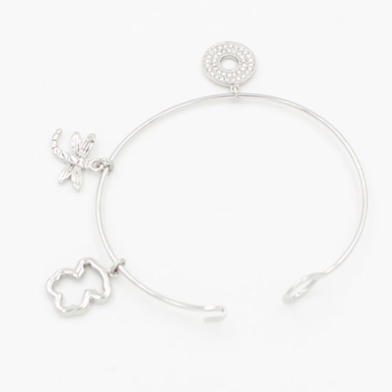 Stainless Steel Wire Bangle with Custom Made Charms for Gift Jewelry pictures & photos