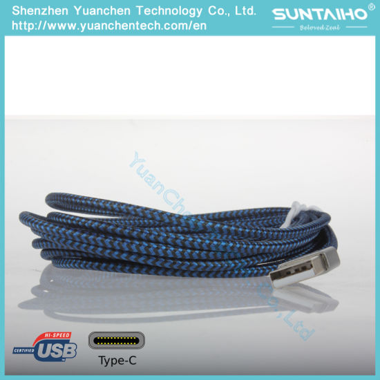 Fast Charging Nylon Braided Type C Cable pictures & photos