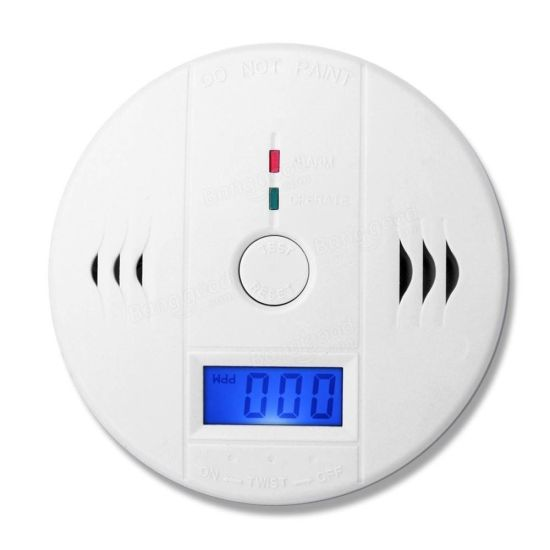 Home Security Battery Operated Carbon Monoxide Co Alarm