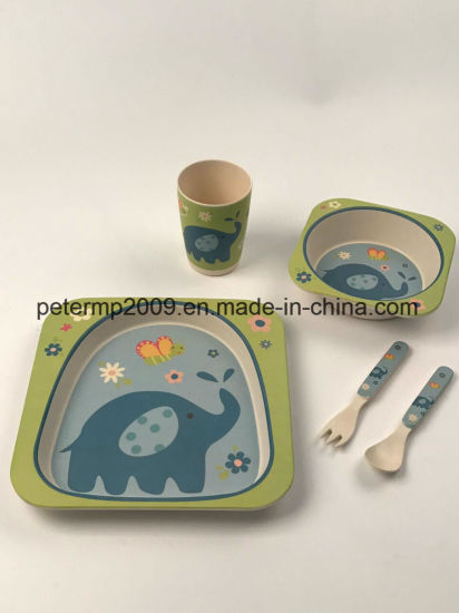 Biodegradable Kids Food Service Bamboo Plate for Children & China Biodegradable Kids Food Service Bamboo Plate for Children ...