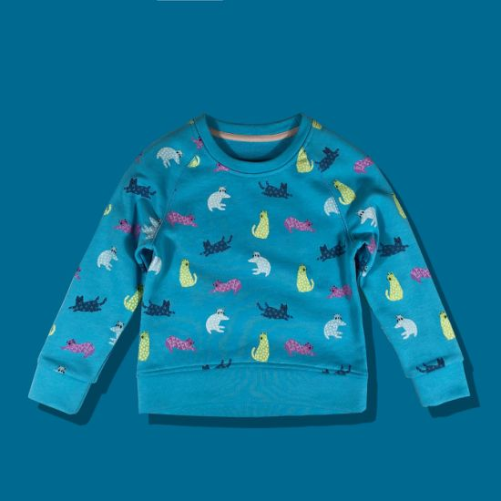 Floral Simple Contract Color Children Fashion Top Kids Wear Clothes Manufacturer