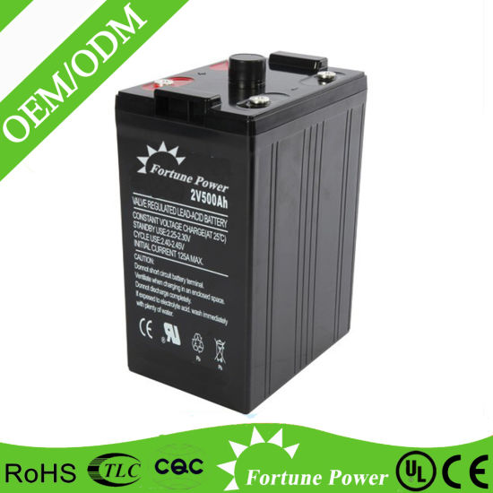 2 Volt 500ah Gel Deep Cycle Sealed Lead Acid Battery pictures & photos