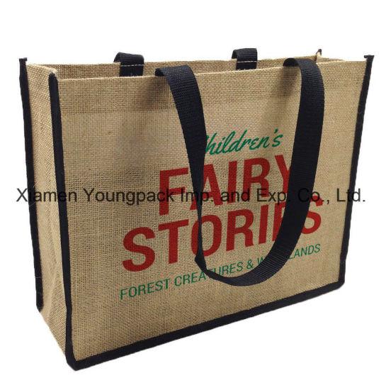 Wholesale Bulk Promotional Custom Printed Large Reusable Jute Shopping Bags