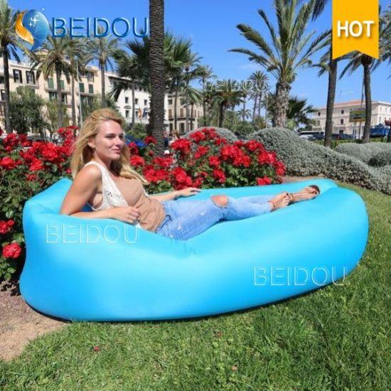DIY-Camping Laybay Inflatable Lounger Hammock Air Sofa Bed Bean Sleeping Bag