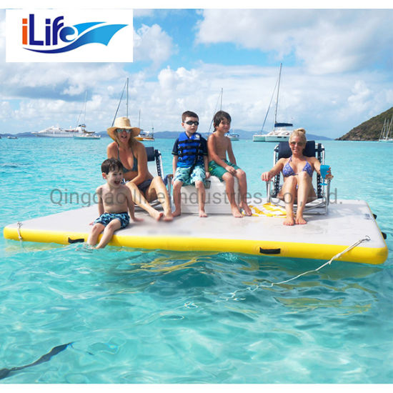 Ilife Wholesale Inflatable Water Floating Mats Colorful Inflatable Floor Gymnastics Track Jumping Yoga Mat