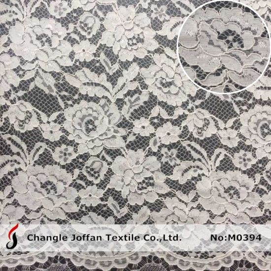 Cord Embroidery Lace Fabric Fashion Bridal Lace for Wedding Dresses (M0394) pictures & photos