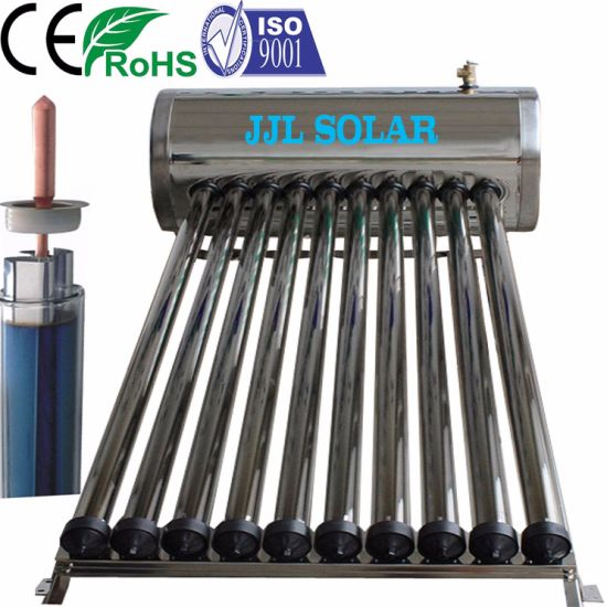 High Pressure/Pressurized 100L 150L 200L 250L 300L Vacuum Tube Stainless Steel Heat Pipe Solar Collector Water Heater Calentadores Solares De Agua, Solar Geyser