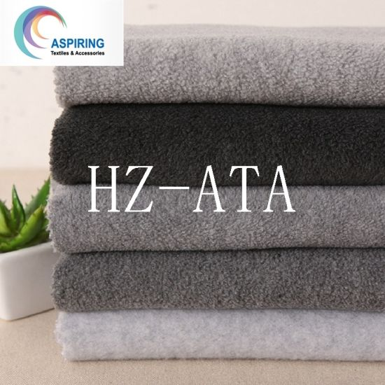 100%Polyester 75D/144f Knitted Anti-Pilling Polar Fleece for Garments and Hometextile pictures & photos