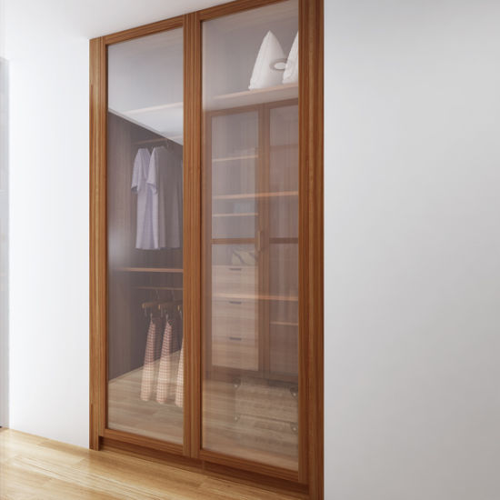 Guangzhou Manufacturer Australia Glass Doors Melamine Wooden Wardrobe Closet (YG14-M03) pictures & photos