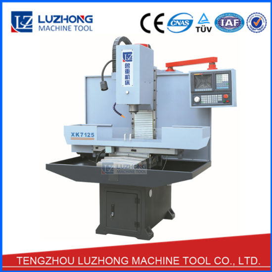 China 4 Axis Hobby Xk7124 Xk7125 Cheap Cnc Vertical Milling Machine