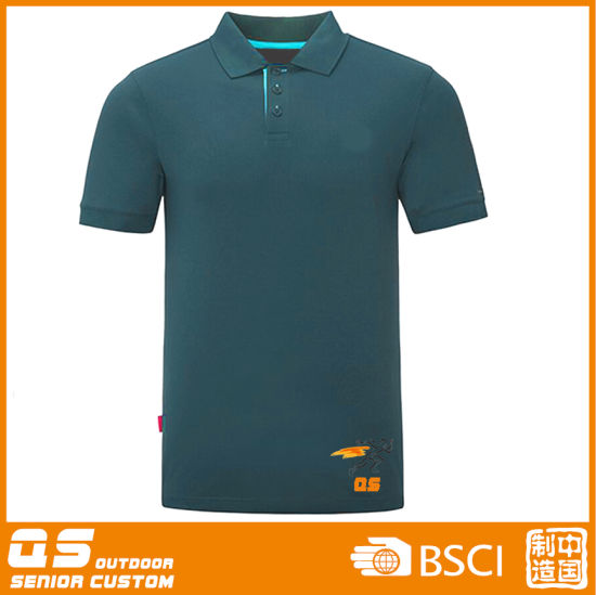 Men's Casual Print Sports Quick Dry Short Sleeve Polo T-Shirt