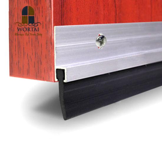 Sliding Bottom Door Rubber Strip Brush Seal With Aluminium Holder