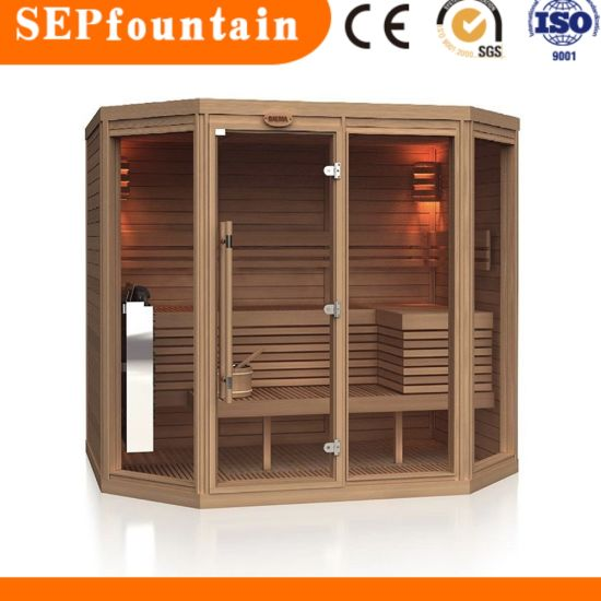 Family Use Traditional Dry Steam Wooden Sauna House Room