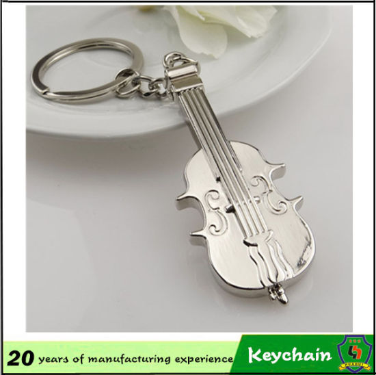 Fashion Colorful Guitar Violin Shape Keychain for Gift pictures & photos