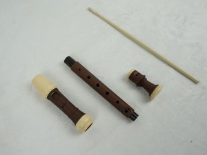 Wooden Imitation Finish ABS Soprano Baroque Flute Recorder pictures & photos