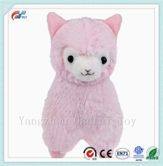China 7 Soft Baby Stuffed Animal Toy Cuddly Llama Pink Alpaca Doll