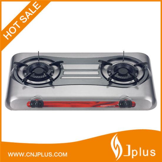 120X120mm Cast Iron Burner Ss Gas Cooker Jp-Gc209