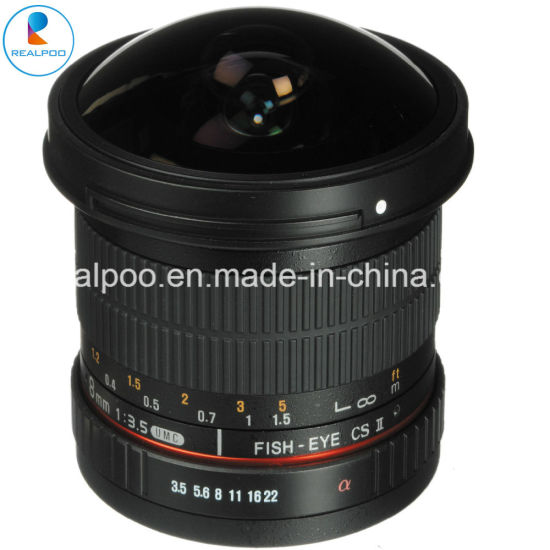 on Sale 8mm F/3.5 HD Camera Fisheye Lens for All DSLR Camera pictures & photos