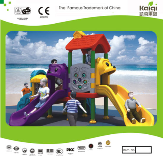 Kaiqi Small Colourful Plastic Children's Slide Set for Indoor or Outdoor Playground (KQ50125D)