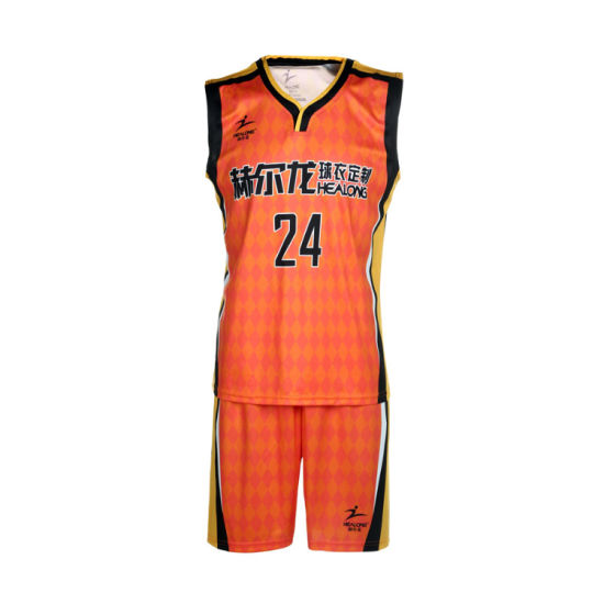 Healong Sportswear Custom Basketball Jerseys Wholesale Low MOQ Basketball Uniform Set