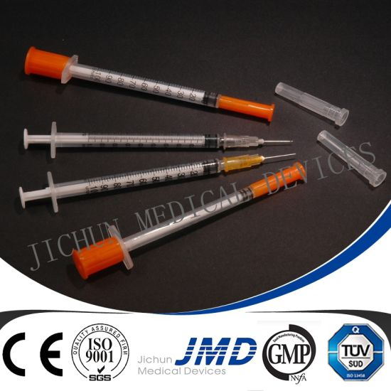 0.3ml/0.5ml/1ml Disposable Insulin Syringes pictures & photos