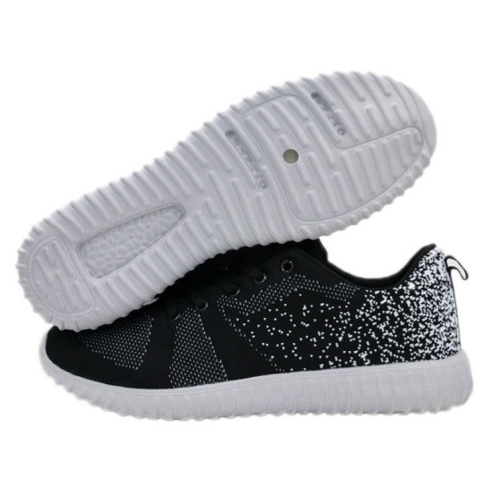 Hot Selling Black Flynit Sport Shoes Recommended Running Trainers pictures & photos