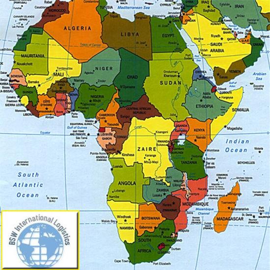 Tanzania Africa World Map.Forwarder Shipping Agent To Africa Tanzania Tunisia Zimbabwe