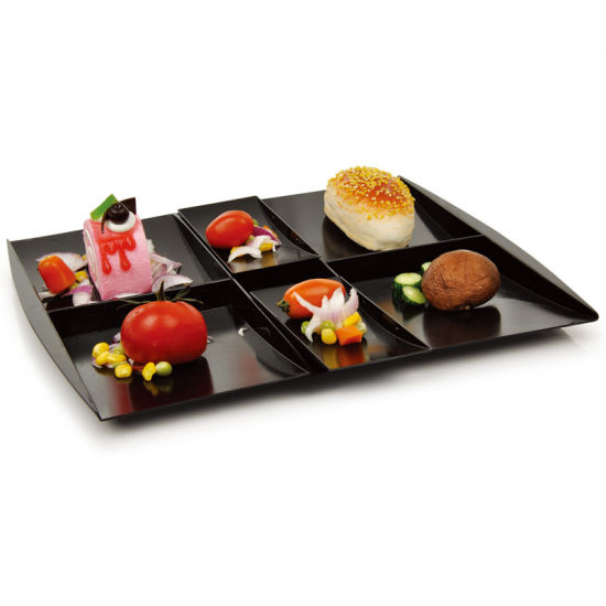 China 6 Compartment Serving Tray Plastic Plate Disposable Tray ...