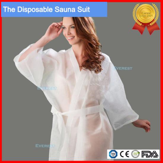 Disposable Non Woven Sauna Suit, Sauna Dress
