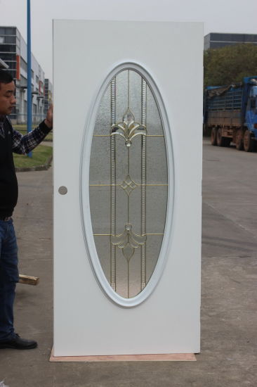 China Small Oval Prehung Exterior Steel Glass Door - China