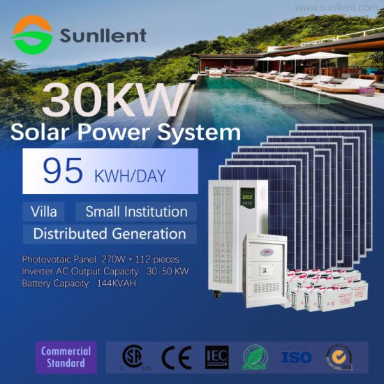 30kw Distributed Generation Solar Power System for Villa or Institution