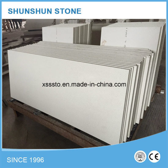 Artifical White Quartz Stone Kitchen Countertop for Sale