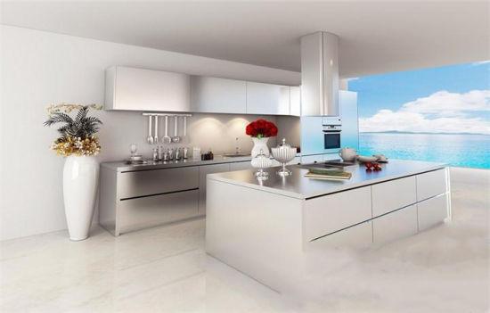 China Elegant Frameless Kitchen Commercial Kitchen Cabinet China