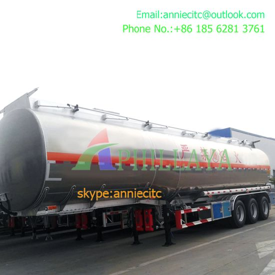 3 Axles 45 Cbm Frac Water Tanker Semi Trailer pictures & photos