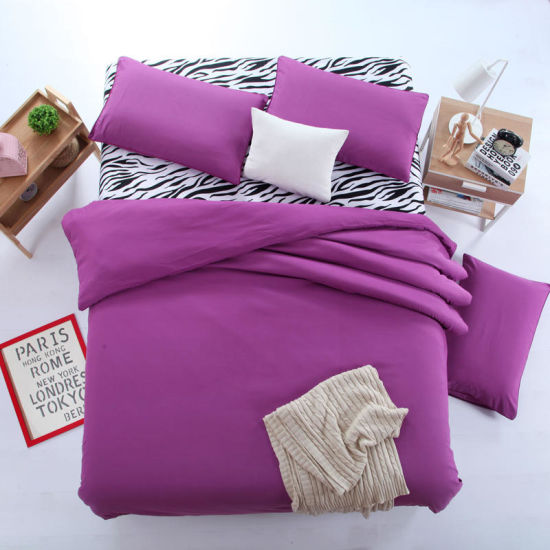China 100% Polyester Solid Color Microfiber Bedding Sheet Set