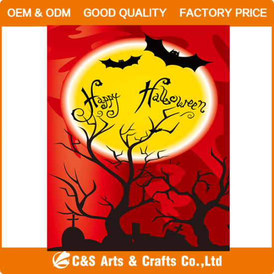 Custom Printing Festival Decorative Halloween Garden Flag/Banner pictures & photos