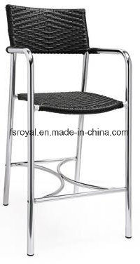 Good Quality Wholesale Outdoor Aluminum Wicker Bar Stool Chair