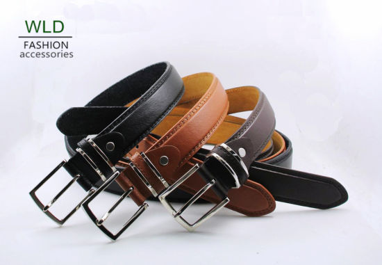 Classic and Basic Man Belt with Split Leather Linning M397 pictures & photos