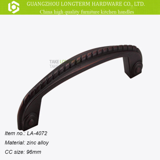 Die-Casting Matt Black Zinc Handle for Wooden Door and Cabinet pictures & photos