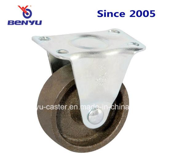 Heat Resistant Fixed Cast Iron Caster Wheel