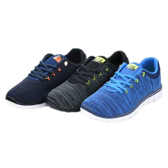 European Style Men′s Black Sport Fitness Shoes Barefoot Running Shoes pictures & photos
